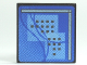 Part No: 30258pb018  Name: Road Sign Clip-on 2 x 2 Square with Curved Blue Lines and Small Black Squares Pattern (Computer Screen)