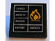Part No: 30258pb020  Name: Road Sign Clip-on 2 x 2 Square with Orange Flame and White Table Pattern (Sticker) - Set 7939