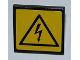 Part No: 30258pb022  Name: Road Sign Clip-on 2 x 2 Square with Electricity Danger Sign Pattern (Sticker) - Set 8186