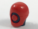 Part No: 30329pb01  Name: Minifigure, Head Modified Helmet with Neck Ridges and Red Mask with Red Circle Pattern