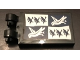 Part No: 30350bpb092  Name: Tile, Modified 2 x 3 with 2 Clips with Ravenclaw Banner Pattern (Sticker) - 71043