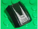 Part No: 30602pb056  Name: Slope, Curved 2 x 2 Lip, No Studs with Silver Grille Pattern (Sticker) - Set 8656