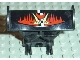 Part No: 30626pb01  Name: Vehicle, Spoiler 3 x 4 x 6 with Red and Yellow Jack Stone Pattern