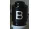Part No: 3062bpb004  Name: Brick, Round 1 x 1 Open Stud with Letter 'B' Pattern