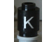Part No: 3062bpb013  Name: Brick, Round 1 x 1 Open Stud with Letter 'K' Pattern