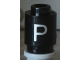 Part No: 3062bpb019  Name: Brick, Round 1 x 1 Open Stud with Letter 'P' Pattern