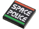 Part No: 3068bpb0029  Name: Tile 2 x 2 with Groove with Space Police II Logo Pattern