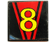 Part No: 3068bpb0048  Name: Tile 2 x 2 with Groove with Number  8 Pattern (Sticker) - Set 8818