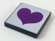 Part No: 3068bpb0082  Name: Tile 2 x 2 with Groove with Purple Heart on Light Violet Background Pattern
