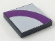 Part No: 3068bpb0085  Name: Tile 2 x 2 with Groove with Purple Quarter Ring on Light Violet Background Pattern
