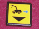 Part No: 3068bpb0121  Name: Tile 2 x 2 with Groove with Black Car and Blue Arrow Right Pattern (Sticker) - Set 8480