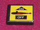 Part No: 3068bpb0122  Name: Tile 2 x 2 with Groove with Black Submarine on Yellow Background Pattern (Sticker) - Set 8480