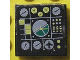 Part No: 3068bpb0125  Name: Tile 2 x 2 with Groove with Avionics Green and Light Gray Pattern 1 (Sticker) - Set 8856