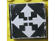 Part No: 3068bpb0127  Name: Tile 2 x 2 with Groove with White Arrows Up, Left, Right, Down on Black Background Pattern (Sticker) - Set 8094