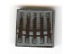 Part No: 3068bpb0142  Name: Tile 2 x 2 with Groove with Grille Five Bar Black and Gray Pattern (Sticker) - Set 7252