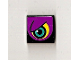 Part No: 3068bpb0185L  Name: Tile 2 x 2 with Groove with Purple Eye Left Pattern (Sticker) - Set 8257