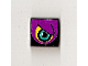 Part No: 3068bpb0185R  Name: Tile 2 x 2 with Groove with Purple Eye Right Pattern (Sticker) - Set 8257