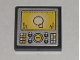 Part No: 3068bpb0295  Name: Tile 2 x 2 with Groove with Silver Control Panel with Yellow Display Pattern (Sticker) - Set 8971