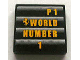 Part No: 3068bpb0323  Name: Tile 2 x 2 with Groove with Ferrari Logo and 'P1 WORLD NUMBER 1' Pattern (Sticker) - Set 8672