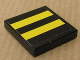 Part No: 3068bpb0334  Name: Tile 2 x 2 with Groove with Two Yellow Stripes on Black Background Pattern (Sticker) - Set 8154