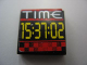 Part No: 3068bpb0351  Name: Tile 2 x 2 with Groove with 'TIME' and '15:37:02' Pattern (Sticker) - Set 8279