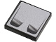 Part No: 3068bpb0374  Name: Tile 2 x 2 with Groove with Double Air Vent on Silver Background Pattern (Sticker) - Set 8647