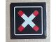Part No: 3068bpb0432  Name: Tile 2 x 2 with Groove with Crossed Bars (Train Crossing) Pattern (Sticker)