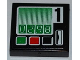 Part No: 3068bpb0648  Name: Tile 2 x 2 with Groove with '02.98' and Black Number '1' Pattern (Sticker) - Set 60016