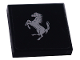 Part No: 3068bpb0859  Name: Tile 2 x 2 with Groove with Ferrari Logo, Silver Horse Large Pattern (Sticker) - Set 8652