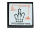 Part No: 3068bpb0877  Name: Tile 2 x 2 with Groove with 'SiO2' and Rock Crystal 5 Point on Screen Pattern (Sticker) - Set 60035