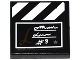 Part No: 3068bpb0965  Name: Tile 2 x 2 with Groove with Clapboard with Cursive Writing, '#8' and Star Pattern (Sticker) - Set 41117