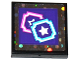 Part No: 3068bpb1056  Name: Tile 2 x 2 with Groove with 2 Star Tickets on Dark Purple Background Pattern (Sticker) - Set 41130