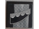 Part No: 3068bpb1100L  Name: Tile 2 x 2 with Groove with Dark Blue and Gray Swirl and Headlights Pattern Model Left Side (Sticker) - Set 8161