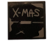 Part No: 3068bpb1287  Name: Tile 2 x 2 with Groove with Gray 'X-MAS' and Tape on Black Background Pattern (Sticker) - Set 75810