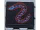Part No: 3068px12  Name: Tile 2 x 2 with Blue and Red Eel Pattern
