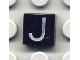 Part No: 3070bpb018  Name: Tile 1 x 1 with Groove with Letter Capital J Pattern