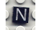Part No: 3070bpb022  Name: Tile 1 x 1 with Groove with Letter Capital N Pattern