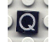 Part No: 3070bpb025  Name: Tile 1 x 1 with Groove with Letter Capital Q Pattern (Undetermined Font Size and Line Type)