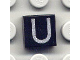 Part No: 3070bpb029  Name: Tile 1 x 1 with Groove with Letter Capital U Pattern