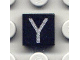 Part No: 3070bpb033  Name: Tile 1 x 1 with Groove with Letter Capital Y Pattern