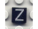 Part No: 3070bpb034  Name: Tile 1 x 1 with Groove with Letter Capital Z Pattern
