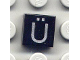 Part No: 3070bpb036  Name: Tile 1 x 1 with Groove with Letter Ü Pattern