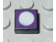 Part No: 3070bpb048  Name: Tile 1 x 1 with Groove with Purple Top and White Circle Pattern