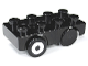 Part No: 31202c03pb01  Name: Duplo Car Base 2 x 4 with 2 Black Wheels and 2 Black Tires with Silver Hub Pattern