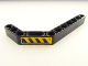 Part No: 32009pb021L  Name: Technic, Liftarm 1 x 11.5 Double Bent Thick with Black and Yellow Danger Stripes Pattern Model Left Side (Sticker) - Set 8446