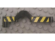 Part No: 32079pb01  Name: Technic, Liftarm 1 x 9 Offset Crossover with Black and Yellow Danger Stripes Pattern on Both Sides (Stickers) - Set 8462