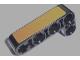 Part No: 32140pb04  Name: Technic, Liftarm 2 x 4 L-Shape Thick with Gold Panel Pattern (Sticker) - Set 8007