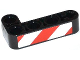 Part No: 32140pb08R  Name: Technic, Liftarm 2 x 4 L-Shape Thick with Red and White Danger Stripes Pattern Model Right Side (Sticker) - Set 42008
