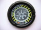Part No: 32171pb031  Name: Throwbot Disk, Jet / Judge, 2 pips, radiating arrows logo Pattern