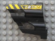 Part No: 32191pb03  Name: Technic, Panel Fairing # 2 Large Short, Large Holes, Side B with Black and Yellow Danger Stripes and Machinery Pattern (Sticker) - Set 8450